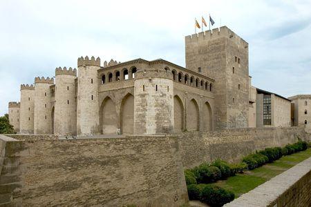 Palace of La Aljaferia in Zaragoza, Aragon, Spain