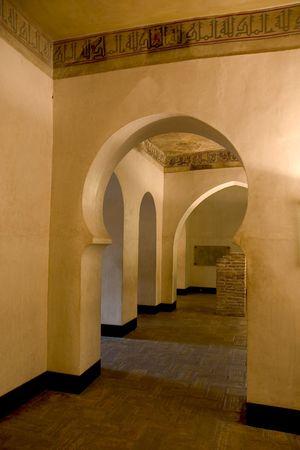 aragon: Hall in La Aljaferia, Zaragoza, Aragon, Spain Stock Photo