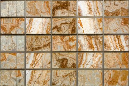 lajas: Un cuadrado de pared decorativo con placas de m�rmol Foto de archivo
