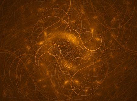 filaments: Abstract bronze filaments design; a  fractal image Stock Photo