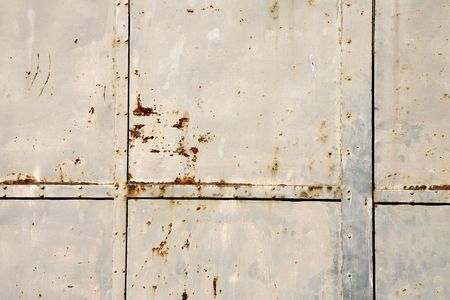 Close-up of a weathered rusty metal door Stock Photo - 728775