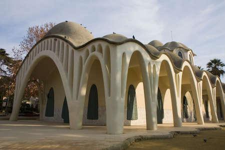 The modernist Masia Freixa in Terrassa, Catalonia, Spain Stock Photo