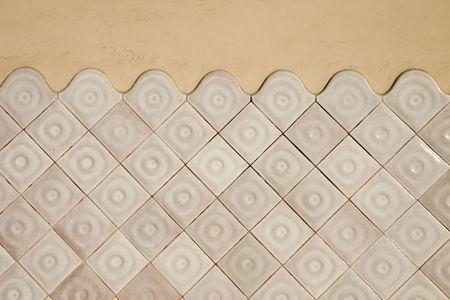Modernist tile wall in the Masia Freixa, Terrassa, Catalonia, Spain photo