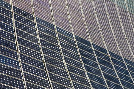 array: An array of solar panels. Alternative energy