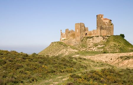 huesca: Montearagon castle in Quicena, province of Huesca, Aragon, Spain