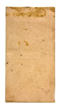 smudgy: A close-up of a dirty old paper Stock Photo