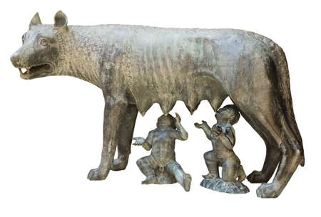 Capitoline wolf replica in Tarragona, Catalonia, Spain Stock Photo
