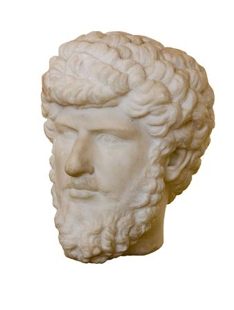 Marble head of Marcus Aurelius Antoninus Augustus ( AD 121 - 180 ). Roman Emperor from 161 to 180. photo