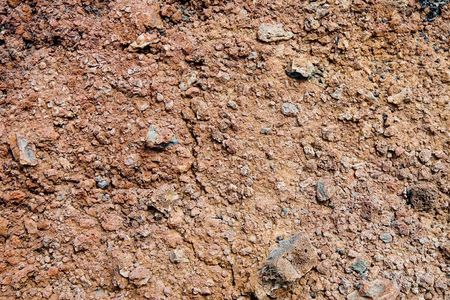 scoria: Volcanic soil in Lanzarote, Canary Islands, Spain