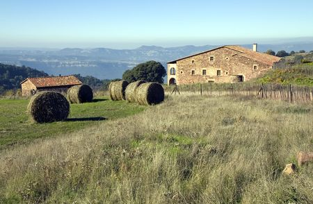 reaping: Masia ( typical rural house ) in Catalonia, Spain