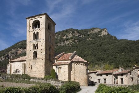 Church of Sant Cristofol (12th Century ) in Beget, La Garrotxa, Catalonia, Spain