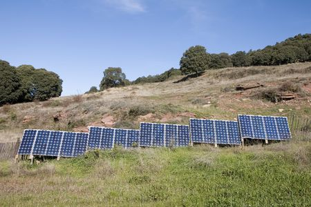 Solar panels in a farm in Catalonia, Spain Stock Photo - 2584517