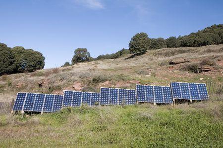 pv: Solar panels in a farm in Catalonia, Spain