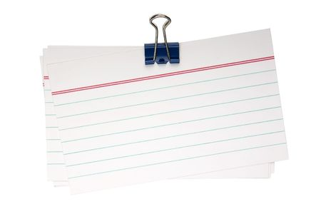 Note papers fastened with a binder clip photo