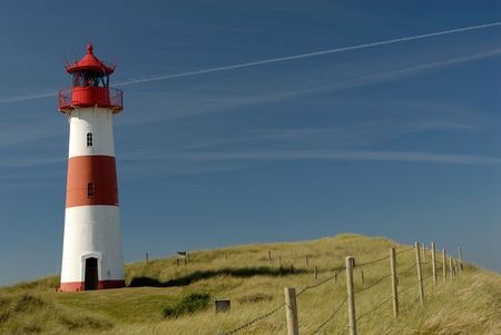 Lighthouse from the island sylt, germany. Stock Photo - 561580