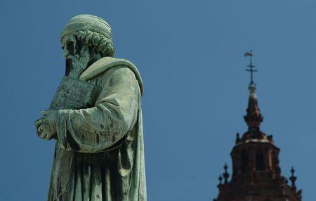 mainz: Johannes Gutenberg memorial in Mainz, Germany  Stock Photo