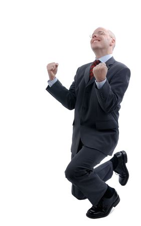 Successful businessman. Picture was made in a studio Stock Photo