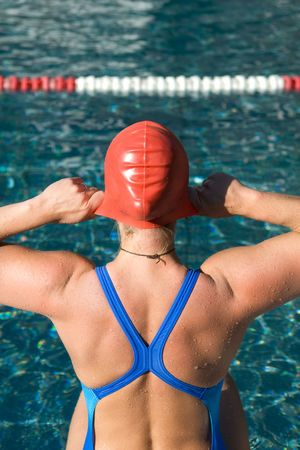 bodypart: Bodypart from a athletic swimmer Stock Photo