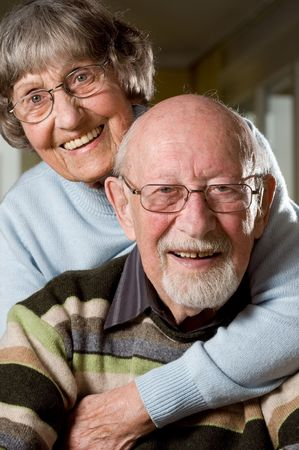 Senior people in love. Studio picture