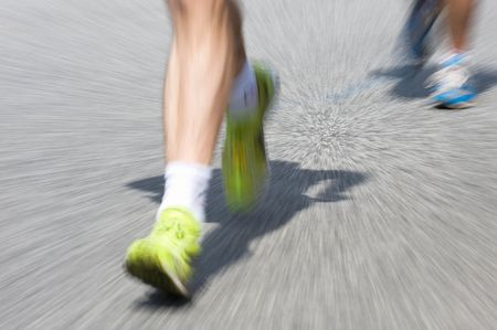 Marathon racer. Blur from the original shot Stock Photo - 3386135