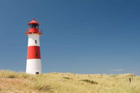 Small lighthouse on the island sylt, germany