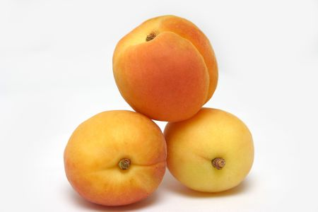 three apricots Stock Photo
