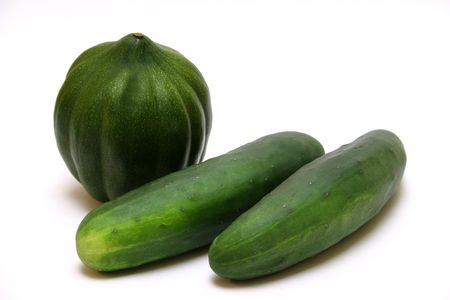 cucumbers: squash and cucumbers Stock Photo