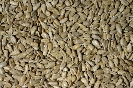 sunflower seeds: unshelled sunflower seeds over seeds background