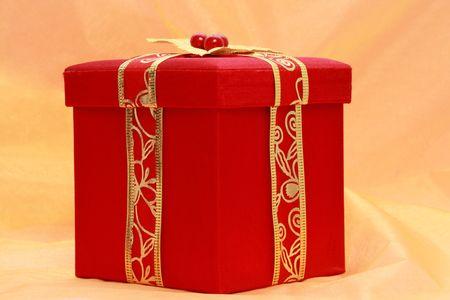 red christmas gift box Stock Photo - 3860445