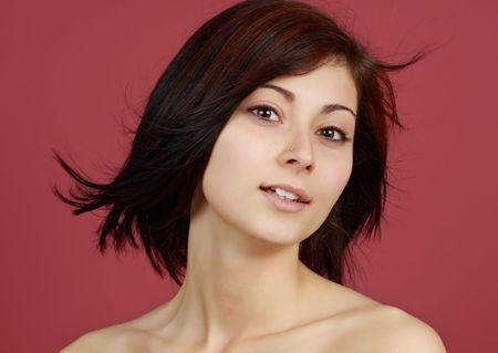 closeup portrait of a young caucasian girl Stock Photo - 4325072