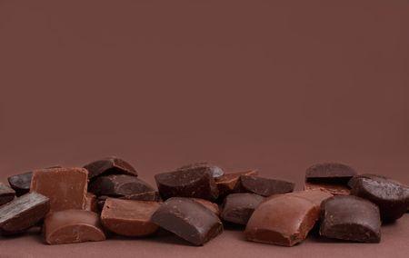 pieces of dark and milk chocolate Stock Photo - 4946621