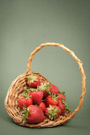 some fresh strawberrie in a basket photo