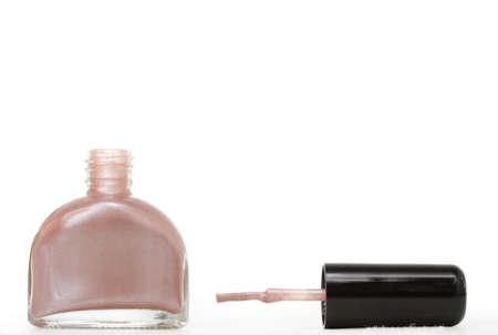 nail polish bottle: bottle of nail polish, white background