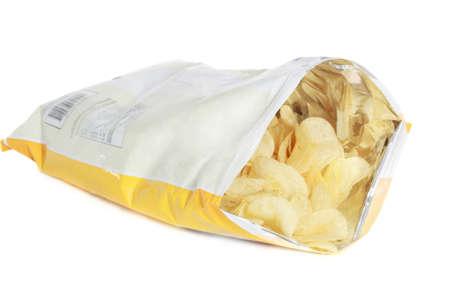 bag of potato chips isolated on white background Stock Photo