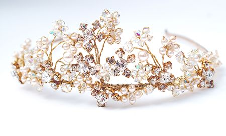 headress: Wedding Tiara Stock Photo