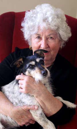 lap dog: Gran with Dog