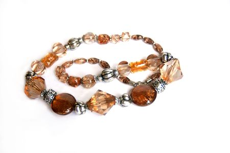 beaded: Brown Beaded Necklace