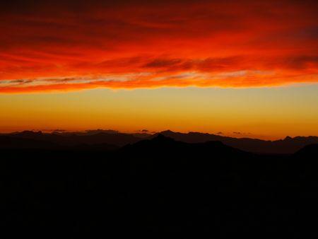 desert sun: Desert sun Stock Photo