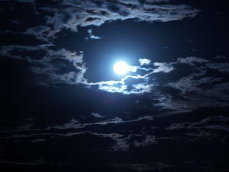 Bright moonrise photo