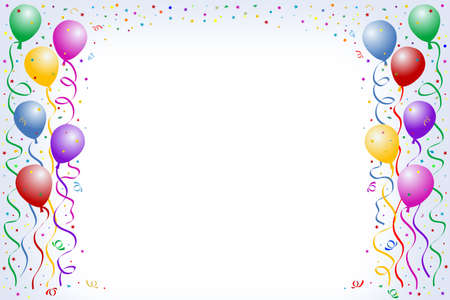 Multicolored cballoons on light blue background