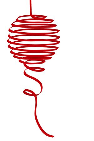 Natale rosso spirale nastro palla