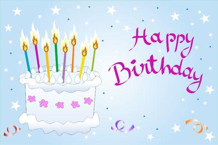 Una torta di compleanno pieno di candele multicolore