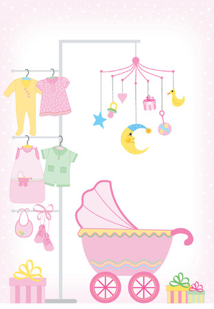 girl showers - Each element might be used separately