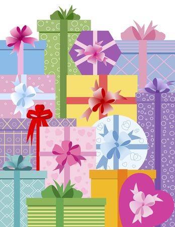 Scatole da regalo con arco Vettoriali