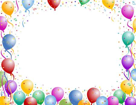 white party: ballonnen party frame