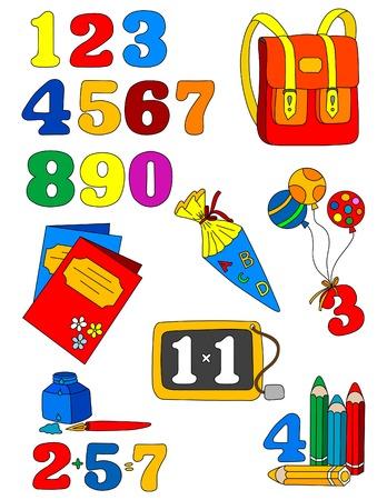 School icons - back to school Stock Vector - 1526548
