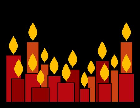 advent candles: Red candles