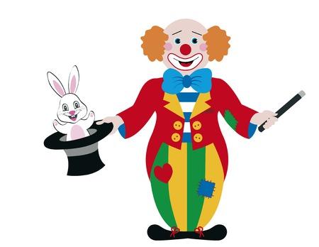 Clown mago Vettoriali