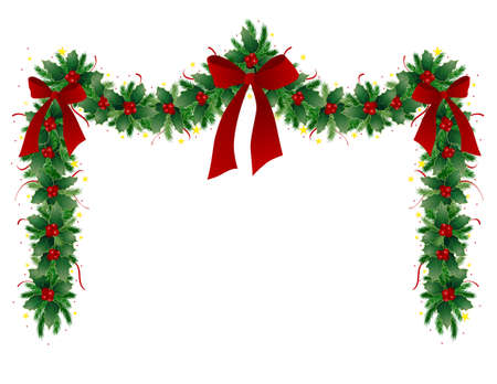 holly berry: Christmas garland
