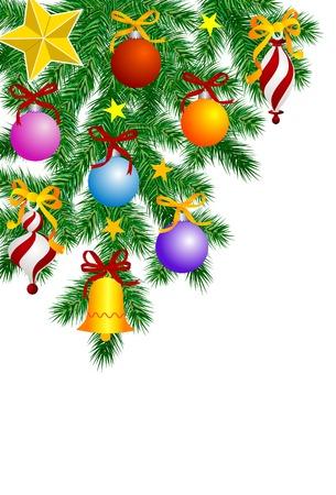 Decorazioni natalizie Vettoriali